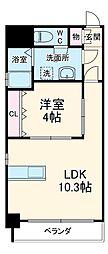 ブランブリエ東山ドゥーエ 8階1LDKの間取り