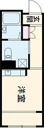 JR中央線 東小金井駅 徒歩2分の賃貸マンション 1階ワンルームの間取り