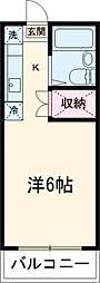 京王相模原線 京王多摩センター駅 バス8分 落合6丁目下車 徒歩2分の賃貸マンション 3階1Kの間取り