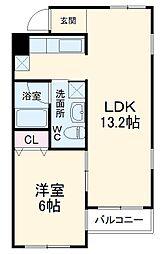 名古屋市営東山線 本山駅 徒歩2分の賃貸マンション 3階1LDKの間取り