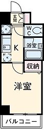 JR中央線 国分寺駅 徒歩2分の賃貸マンション 3階1Kの間取り