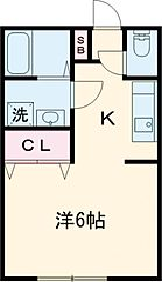 京王線 聖蹟桜ヶ丘駅 徒歩13分の賃貸アパート 1階1Kの間取り