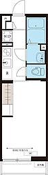JR南武線 中野島駅 徒歩8分の賃貸マンション 2階1Kの間取り