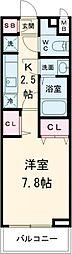 東急田園都市線 用賀駅 徒歩9分の賃貸マンション 4階1Kの間取り