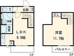 PARK SQUARE 駒沢大学 地下1階1LDKの間取り