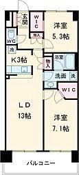 東京メトロ日比谷線 南千住駅 徒歩9分の賃貸マンション 4階2LDKの間取り