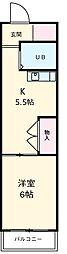 三岐鉄道三岐線 平津駅 徒歩5分の賃貸マンション 5階1DKの間取り