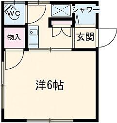伊藤荘 1階1Kの間取り