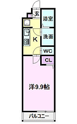 名古屋市営東山線 中村公園駅 徒歩7分の賃貸マンション 1階1Kの間取り