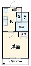 名鉄常滑線 大同町駅 徒歩7分の賃貸マンション 4階1Kの間取り