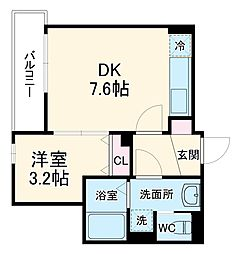 JR京浜東北・根岸線 北浦和駅 徒歩6分の賃貸アパート 2階1DKの間取り