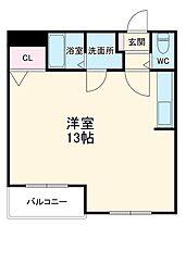 近鉄名古屋線 千代崎駅 徒歩21分の賃貸マンション 1階ワンルームの間取り