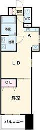名古屋市営名城線 平安通駅 徒歩5分の賃貸マンション 5階1LDKの間取り