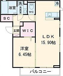 東京メトロ東西線 南砂町駅 徒歩21分の賃貸アパート 3階1LDKの間取り