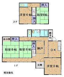 小田急小田原線 海老名駅 徒歩8分の賃貸一戸建て 1階5SDKの間取り