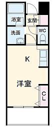 名古屋市営名城線 名古屋大学駅 徒歩14分の賃貸マンション 1階ワンルームの間取り