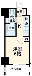 SYFORME YOKOHAMA−ODORIKOEN 2階1Kの間取り