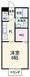 東武伊勢崎線 韮川駅 徒歩19分の賃貸アパート 1階1Kの間取り