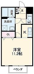 大阪モノレール本線 沢良宜駅 3.2kmの賃貸アパート 1階ワンルームの間取り