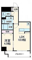 レジデンシア豊田桜町 12階1LDKの間取り