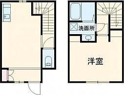 福岡市地下鉄空港線 東比恵駅 徒歩15分の賃貸テラスハウス 1階1LDKの間取り