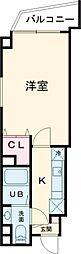 JR常磐線 亀有駅 徒歩5分の賃貸マンション 9階1Kの間取り