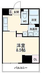 Field Village Hirosumi 8階1Kの間取り