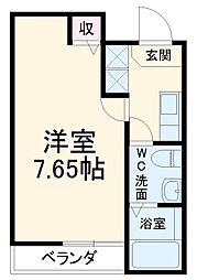 JR山陰本線 二条駅 徒歩17分の賃貸マンション 4階1Kの間取り