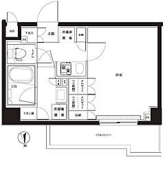 都営大江戸線 練馬駅 徒歩12分の賃貸マンション 5階1Kの間取り