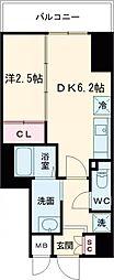 東急東横線 都立大学駅 徒歩4分の賃貸マンション 2階1DKの間取り
