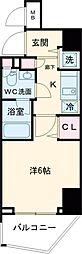 KDA SHINAGAWA OSAKI 5階1Kの間取り