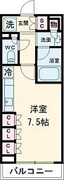 東急池上線 戸越銀座駅 徒歩4分の賃貸マンション 10階1Kの間取り