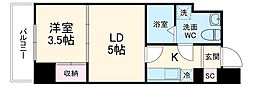 JR京浜東北・根岸線 大宮駅 徒歩7分の賃貸マンション 6階1LKの間取り