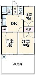 第四静和荘 1階3DKの間取り