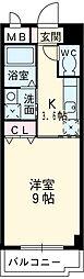 名鉄豊田線 豊田市駅 バス10分 汐見町下車 徒歩3分の賃貸マンション 2階1Kの間取り