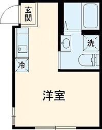 Villa Noir 1階ワンルームの間取り