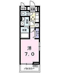 京成本線 公津の杜駅 徒歩15分の賃貸アパート 1階1Kの間取り