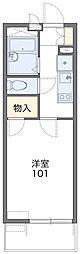 愛知高速東部丘陵線 杁ヶ池公園駅 徒歩19分の賃貸マンション 2階1Kの間取り