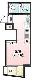 都電荒川線 梶原駅 徒歩2分の賃貸アパート 3階ワンルームの間取り