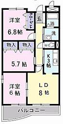 京成本線 京成成田駅 徒歩24分の賃貸マンション 1階3LDKの間取り