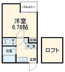 JR京浜東北・根岸線 港南台駅 徒歩13分の賃貸アパート 3階1Kの間取り