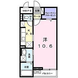 JR高崎線 高崎駅 徒歩18分の賃貸マンション 1階1Kの間取り