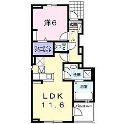 ファインハウス 1階1LDKの間取り