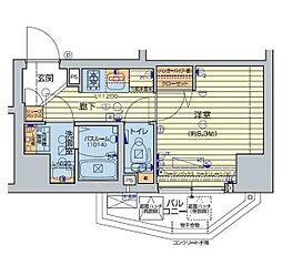 レオンコンフォート池田山 10階1Kの間取り