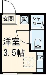 京王相模原線 京王永山駅 徒歩7分の賃貸アパート 1階ワンルームの間取り