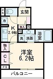 京王線 府中駅 徒歩3分の賃貸アパート 3階1Kの間取り