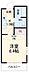間取り,1K,面積20.89m2,賃料4.3万円,JR横須賀線 横須賀駅 徒歩8分,京急本線 汐入駅 徒歩9分,神奈川県横須賀市汐入町5丁目