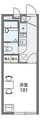 小田急江ノ島線 湘南台駅 バス15分 横浜薬大南門下車 徒歩12分の賃貸アパート 2階1Kの間取り