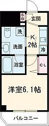 メインステージ立川II 6階1Kの間取り