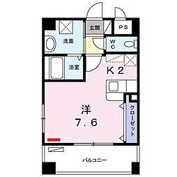 沖縄都市モノレール 壺川駅 バス15分 寄宮下車 徒歩3分の賃貸マンション 1階1Kの間取り